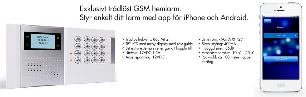 Exlusivt trådlöst GSM villalarm