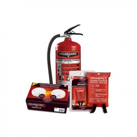 Brandkit 6kg pulversläckare och filt 120x180 2st varnare