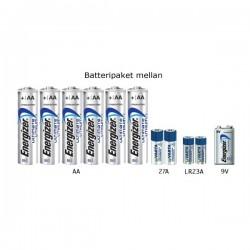 Batteripaket lithium mellan