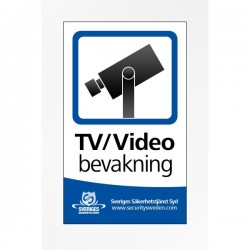 Kameraövervakningsdekal A5